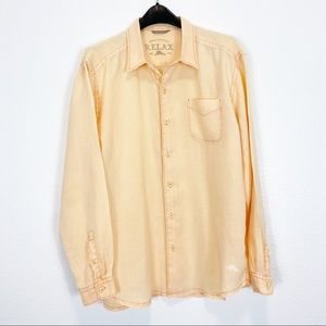 Tommy Bahama Relax 100% Linen Button Down XL/TG